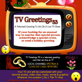Tv Greeting 53 Televised Greeting Card Television Show and the EBiz Card Live App